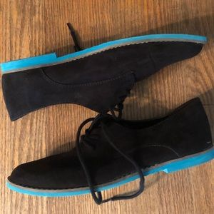 Mossimo faux suede oxfords